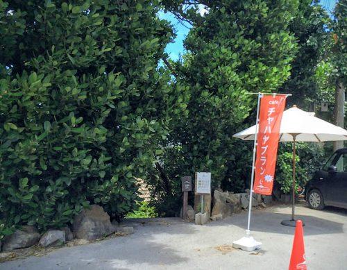 備瀬のフクギ並木駐車場にある入口からでは、お店の魅力は見えません。
