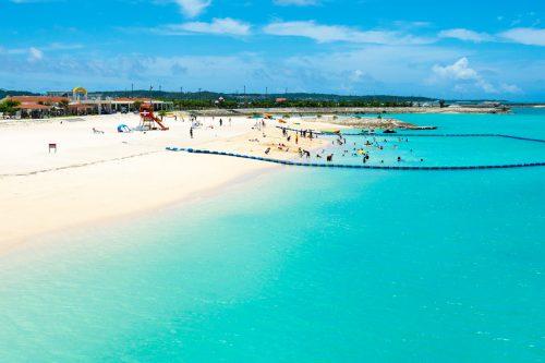 糸満市の美々ビーチ、ファミリーにはお勧めのビーチです。