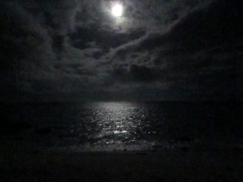 満月の声援、沖縄本島最北の島、月あかりで走る伊平屋ムーンライトマラソン
