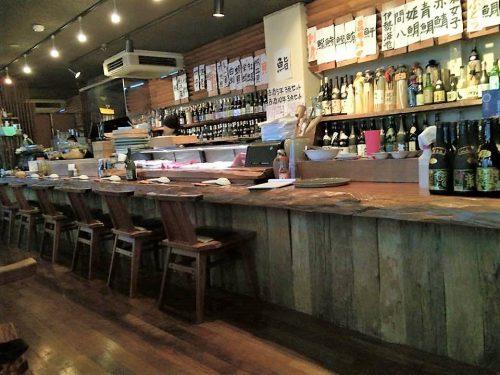 古酒蔵山桜のカウンターバー