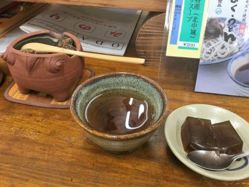 中村家住宅の売店でお茶をいただきました。