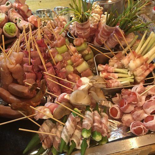 フッシュバードのおすすめ串焼きの数々