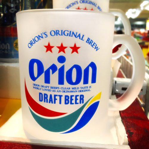 那覇空港で買える人気のお土産雑貨の最後は、オリオンビールのグラス。これで飲むビールは格別。沖縄旅行気分になれます。
