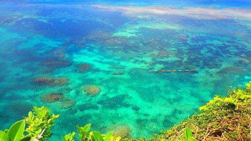 伊良部島「三角点」のカヤックツアーの様子