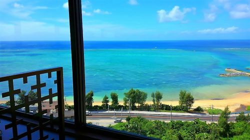 カフーリゾートフチャクのレストラン「ブルー」からの眺め