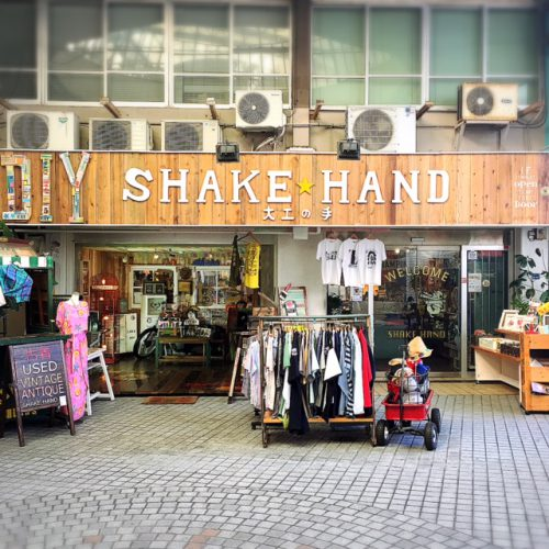 那覇国際通りの雑貨屋、シェイクハンドの外観