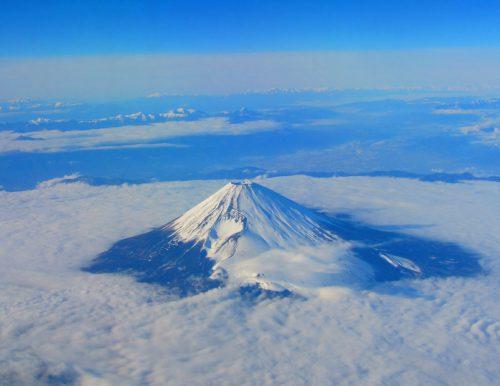 飛行機からの眺め 富士山