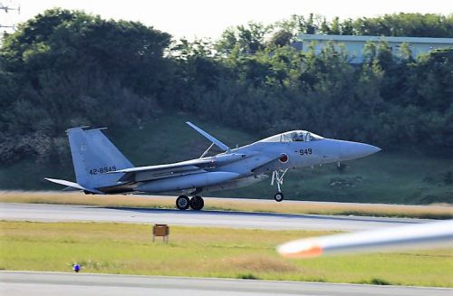 F15のスクランブル発進、那覇基地