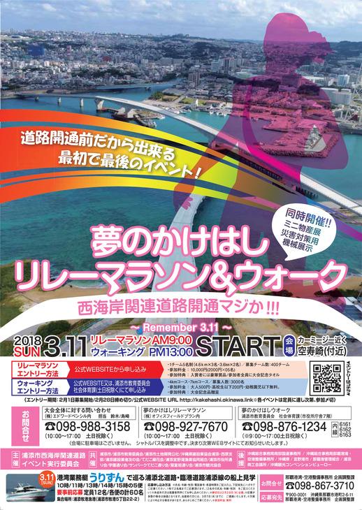 沖縄西海岸道路の開通前マラソン