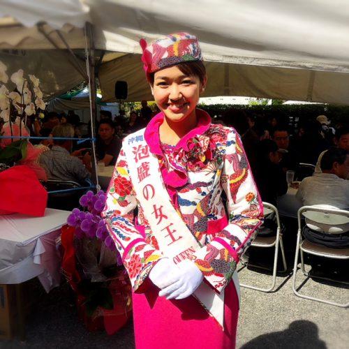 瑞穂酒造蔵祭りで2017年泡盛の女王のスピーナ瑛利香さん