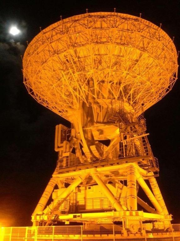石垣島星空保護区のパラボラアンテナ