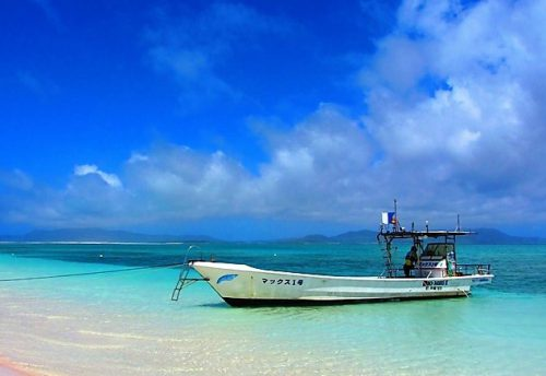 久米島ハテの浜は、どこもインスタ映え間違いなし