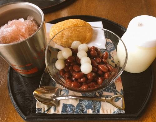 沖縄の夏にはおススメかき氷のお店富士家の沖縄ぜんざい