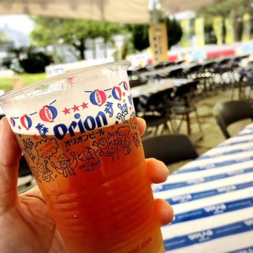 沖縄の産業まつり2018名護でしか飲めない75ビール