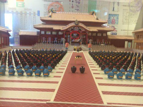 首里城正殿当時の儀式を再現