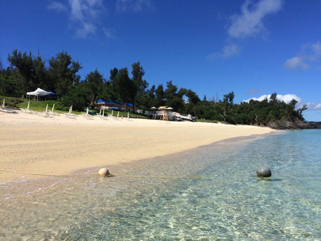 ミッションビーチはプライベートビーチなので混雑とは無縁。