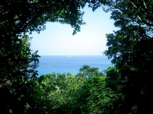 三庫理から神の島と呼ばれる久高島を望む