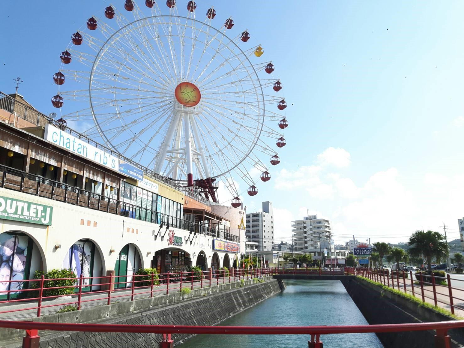 沖縄の流行の最先端、北谷アメリカンビレッジ