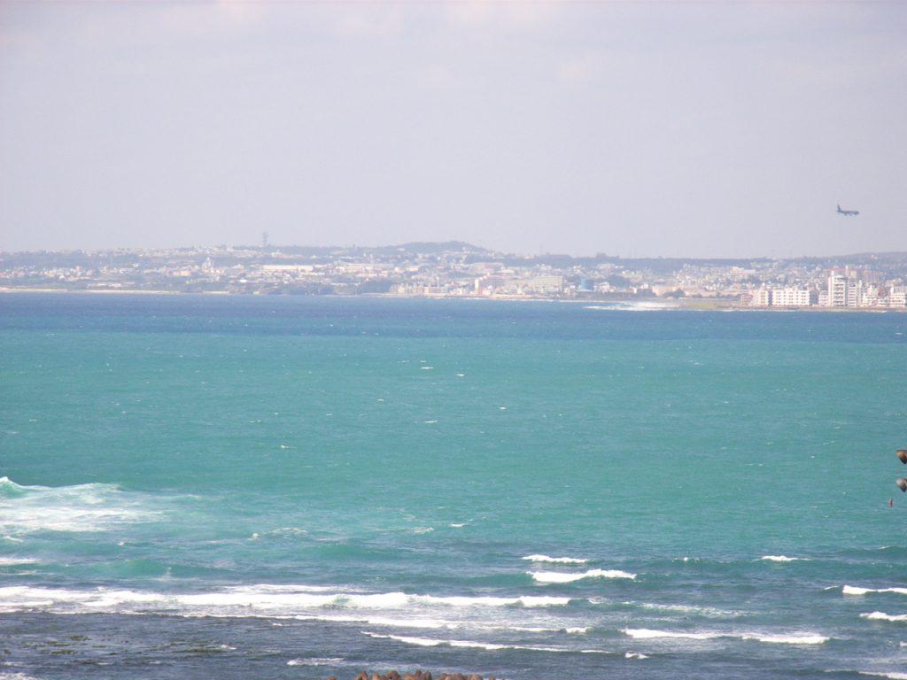世界遺産中城から見る太平洋
