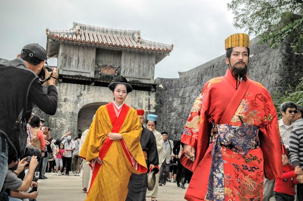 琉球王朝祭り首里 琉球国王の正...