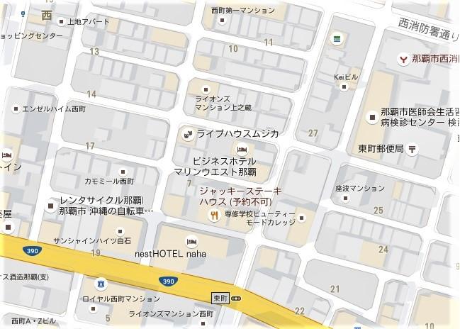 ジャッキーステーキハウス周辺地図