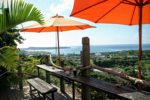 沖縄絶景海カフェの亜熱帯茶屋のテラスからの景色は絶景