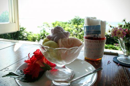 この絶景の中を眺めながら食べるアイスクリンは最高ですね!