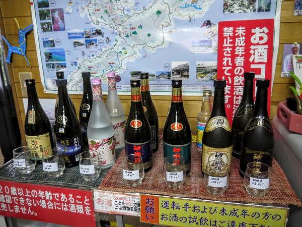 山川酒造さんの試飲コーナー