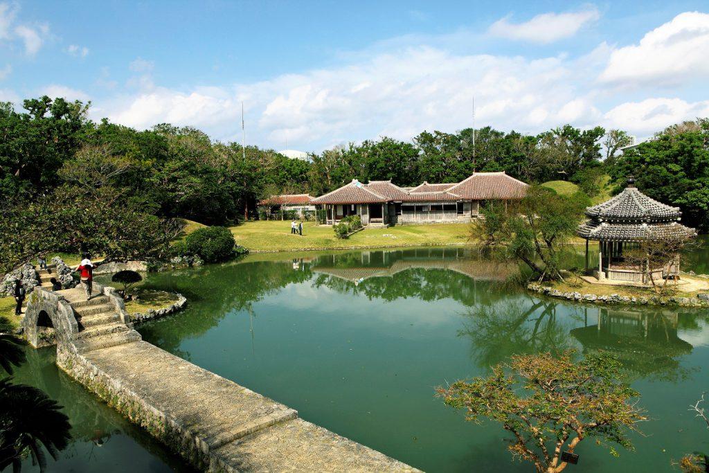 世界遺産識名園の見事な庭園