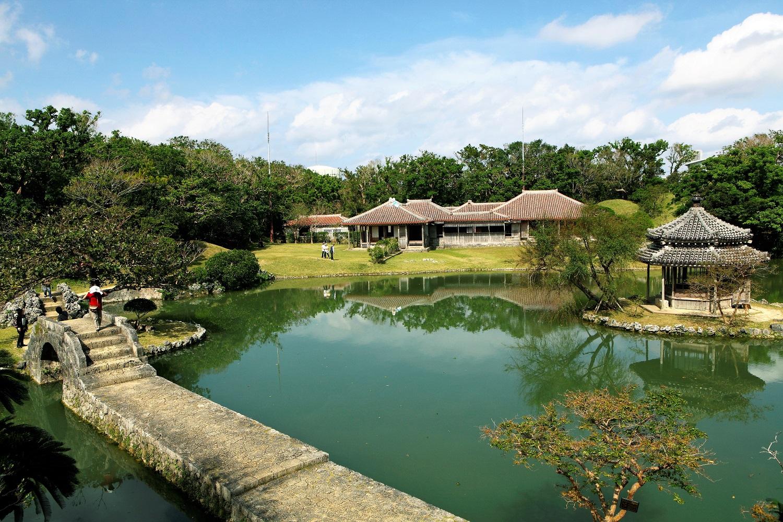 和、琉、中様式を兼ね備えた琉球王別邸、世界遺産識名園