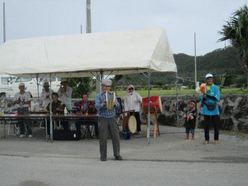 伊平屋村の方達の応援、沖縄本島最北の島、月あかりで走る伊平屋ムーンライトマラソン