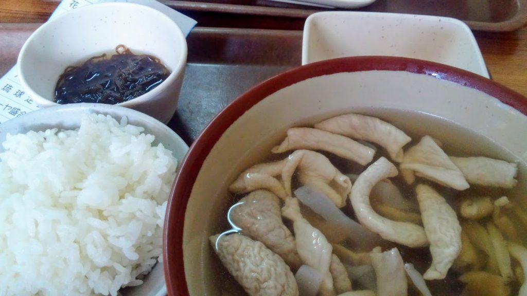 花笠食堂の中味汁定食