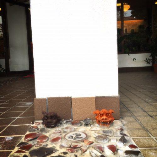 壺屋やちむん通りで見つけた路上の芸術!