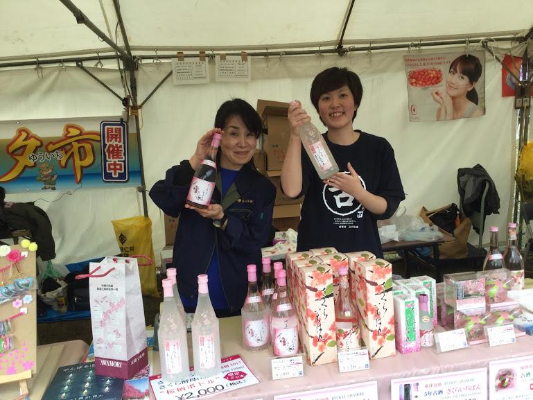日本一早い「本部八重岳桜まつり」に山川酒造さくらいちばん
