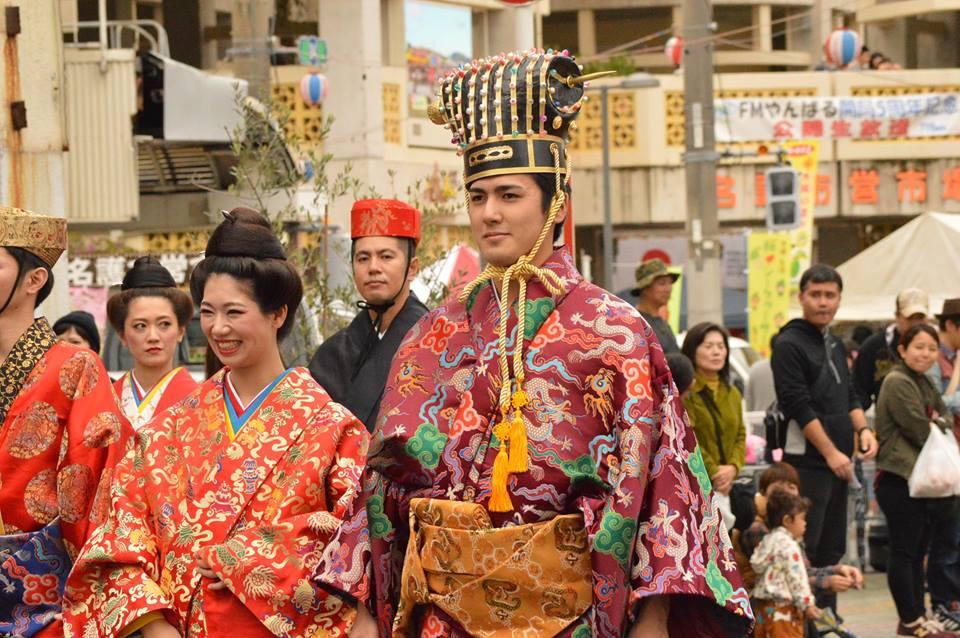 名護、今帰仁、本部さくら祭りの名護は琉球王行列