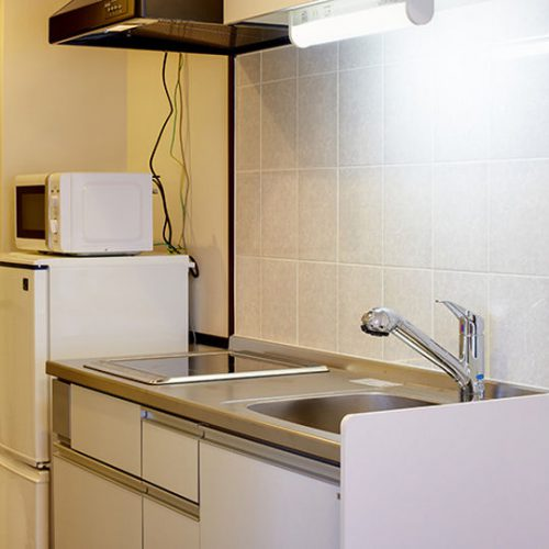 CLASS INN 那覇新都心の客室内キッチンです。