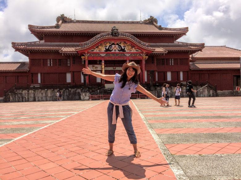 首里城正殿にやって来ました!