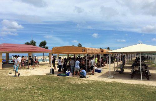 選挙が開催される美らSUNビーチでは、BBQを楽しめます。