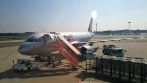 LCC格安航空の成田空港第3ターミナルから、さぁ、沖縄へ。