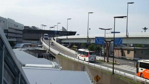 第3ターミナルから見た第2ターミナル、約600m