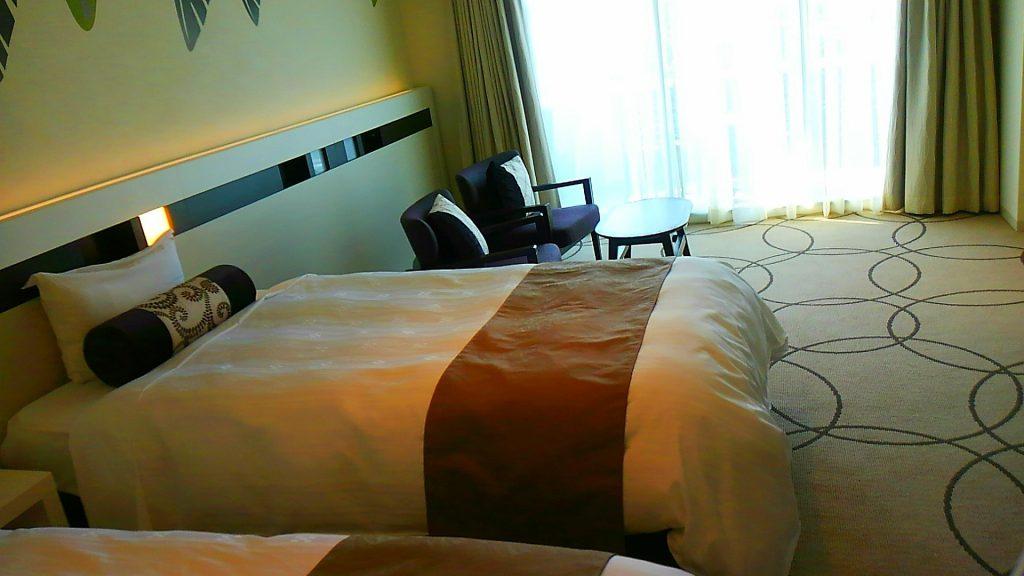 かねひで喜瀬ビーチパレスのお部屋は、リニューアルされて新築のホテルの様に様変わりされました。