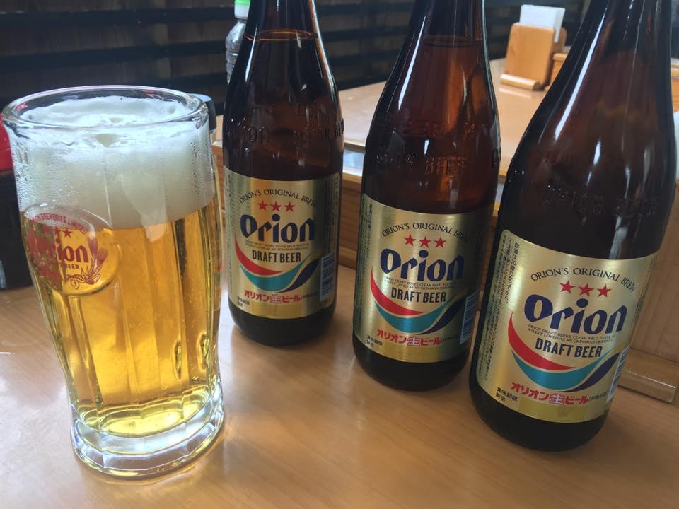 ひざくらの名護の水とはオリオンビール