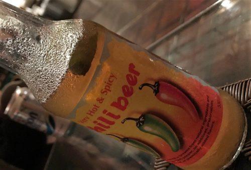 ディープなコザを朝まではしご de ナイトオトラボの唐辛子ビール