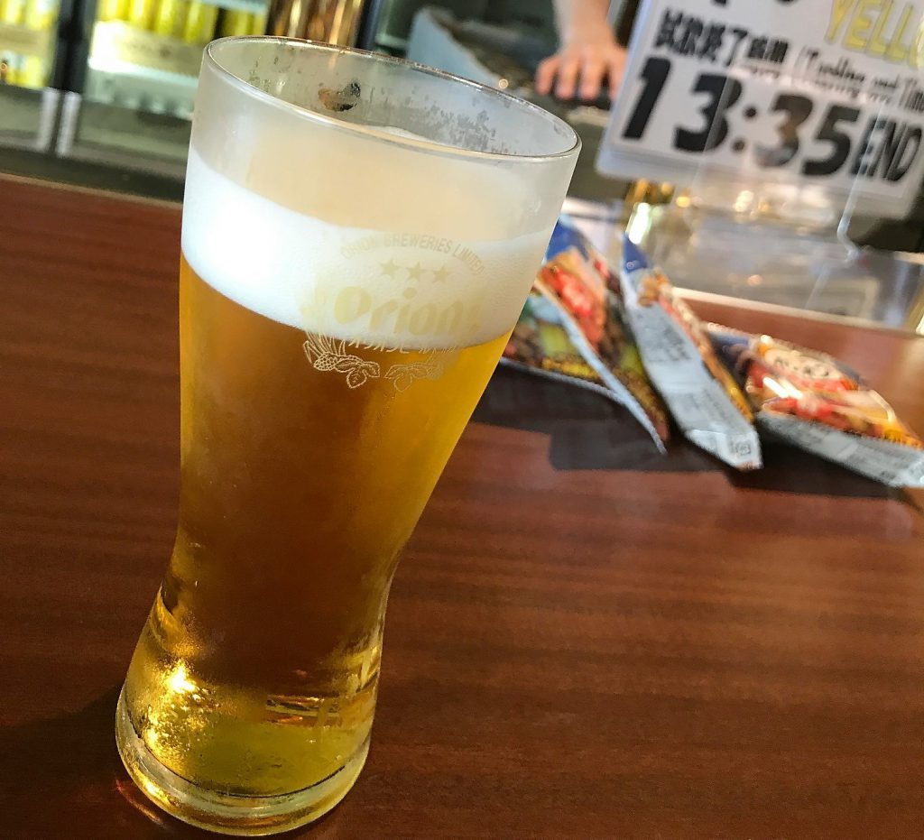 オリオンビール試飲