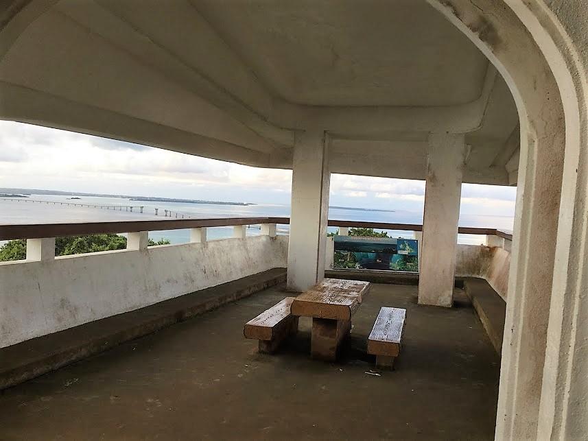 伊良部大橋を望む・牧山展望台の中
