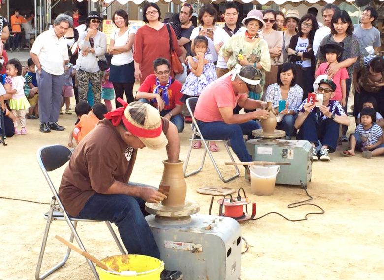 壺屋陶器まつり2019にはやちむん作り競技がある