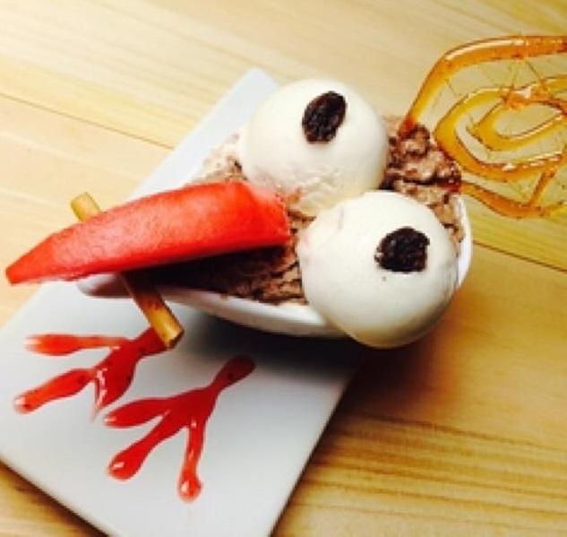 沖縄が好きになる居酒屋「沖縄食堂じまんや」デザートのヤンバルクイナ