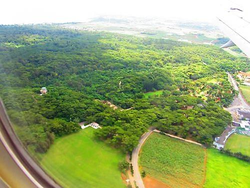 宮古島空港着陸寸前