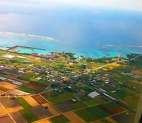 宮古島着陸寸前