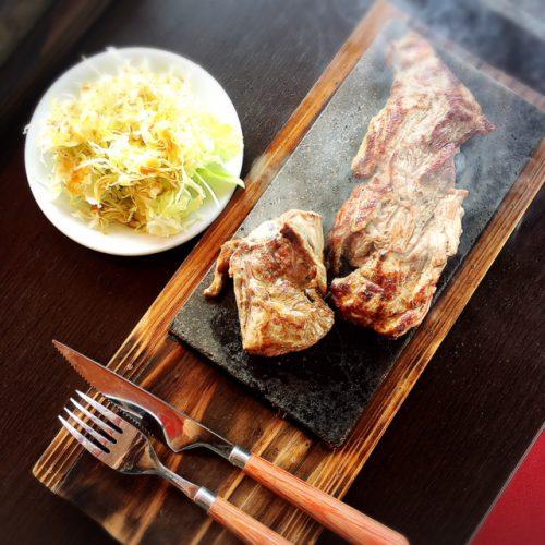 のうれんプラザのHIDEKIステーキは800円